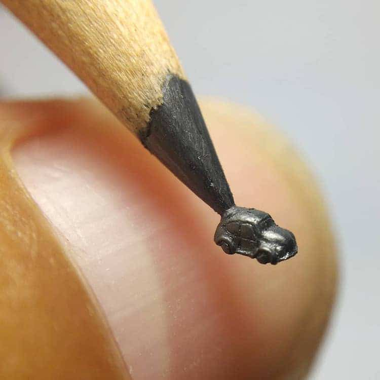 Pencil Lead Sculpture by Chien Chu Lee