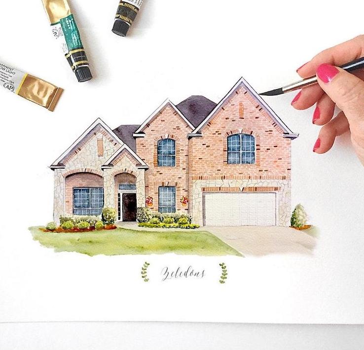 Custom Painted House Portrait