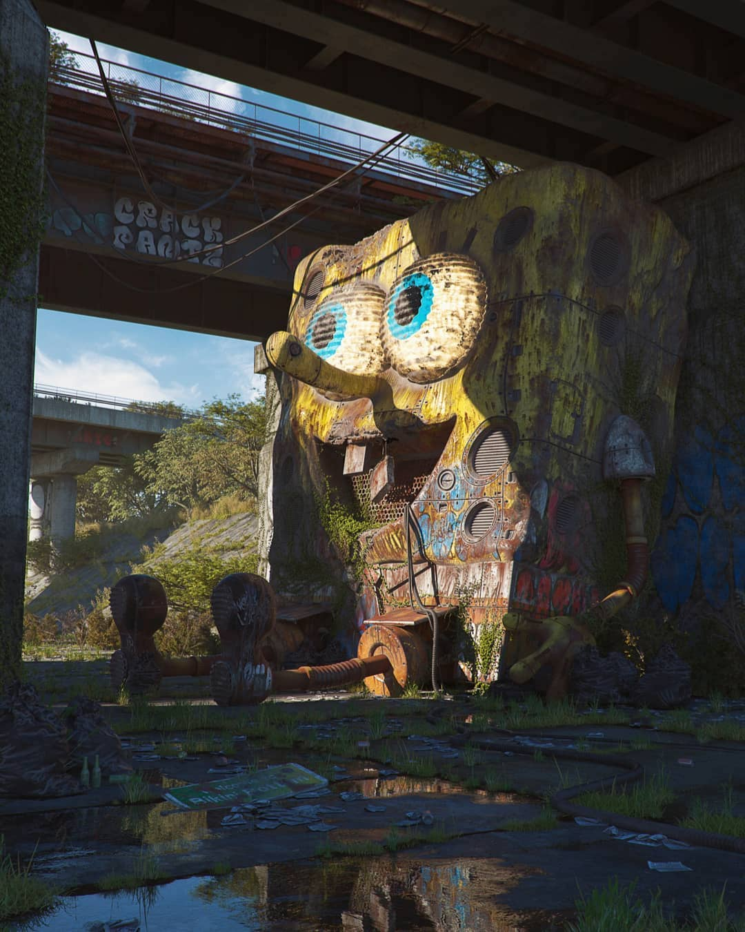 Pop Culture Dystopia Digital Art by Filip Hodas