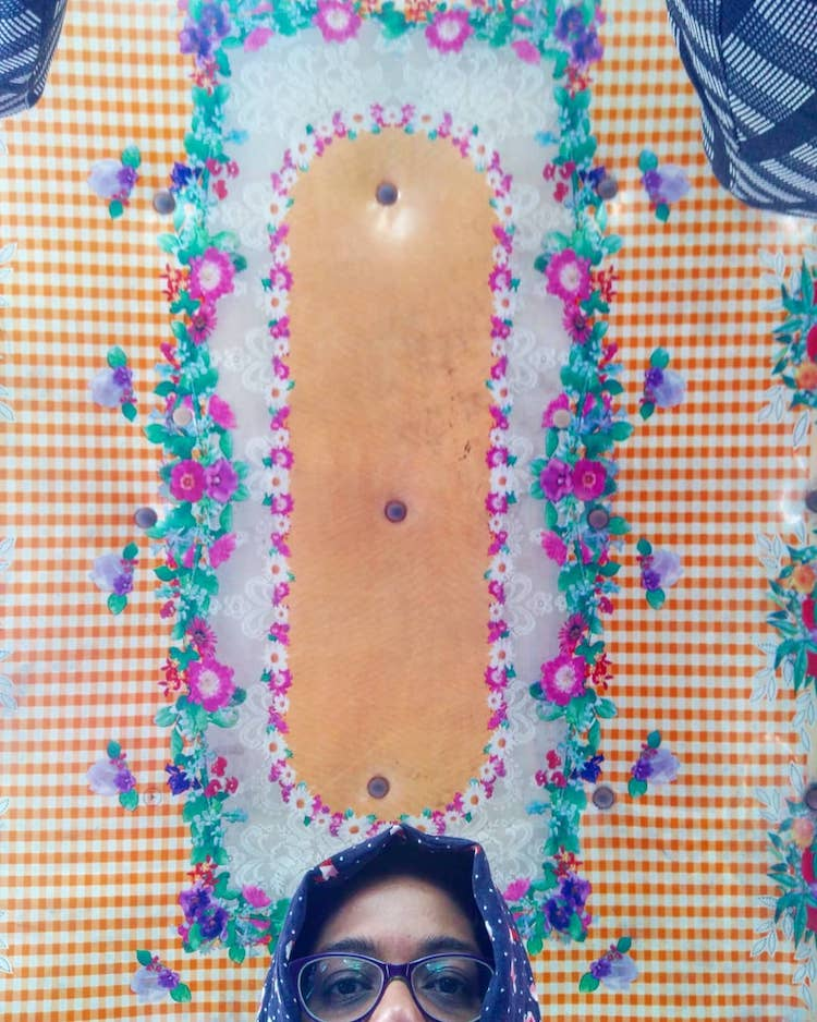 Rachel Lopez Mumbai Taxi Ceiling