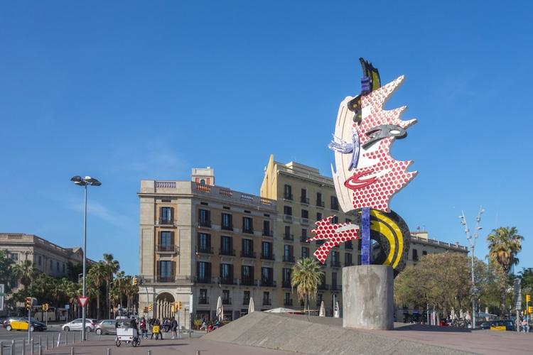 Escultura de Roy Lichtenstein en Barcelona
