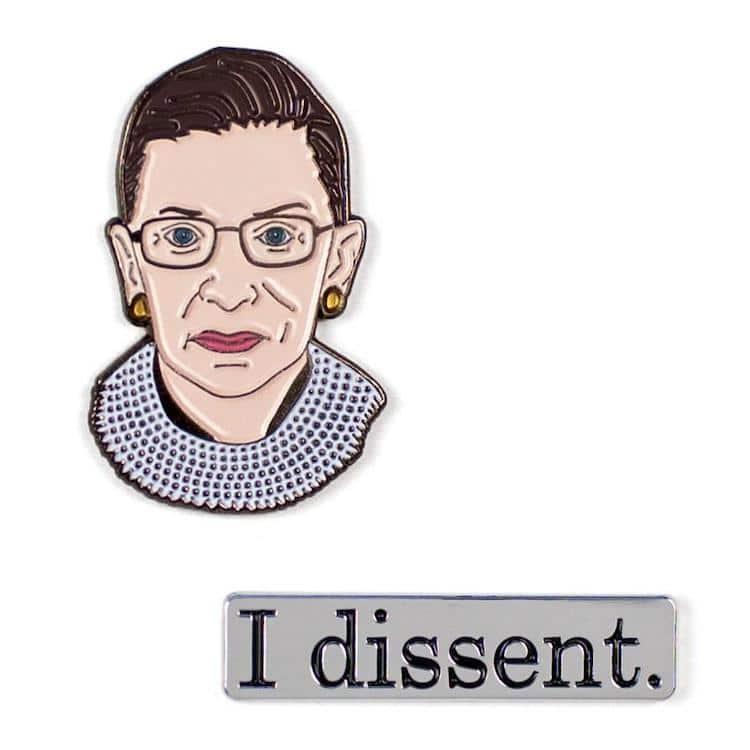 Ruth Bader Ginsberg Pin