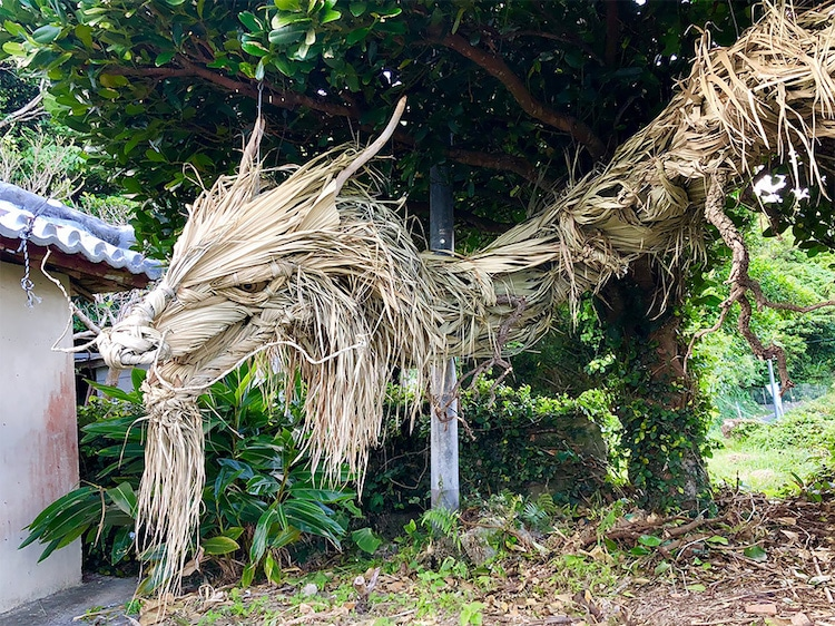 Straw Japanese Dragon Sculpture by Ayako