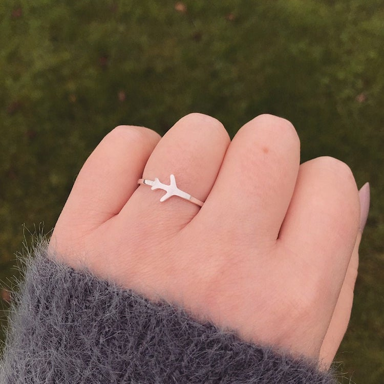 Tiny Airplane Ring