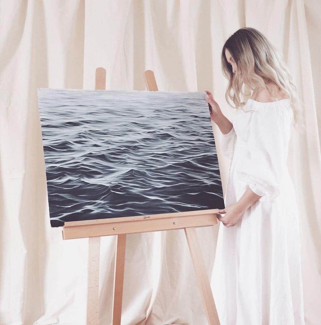 Dibujos a lápiz del océano por Bethany Moffat
