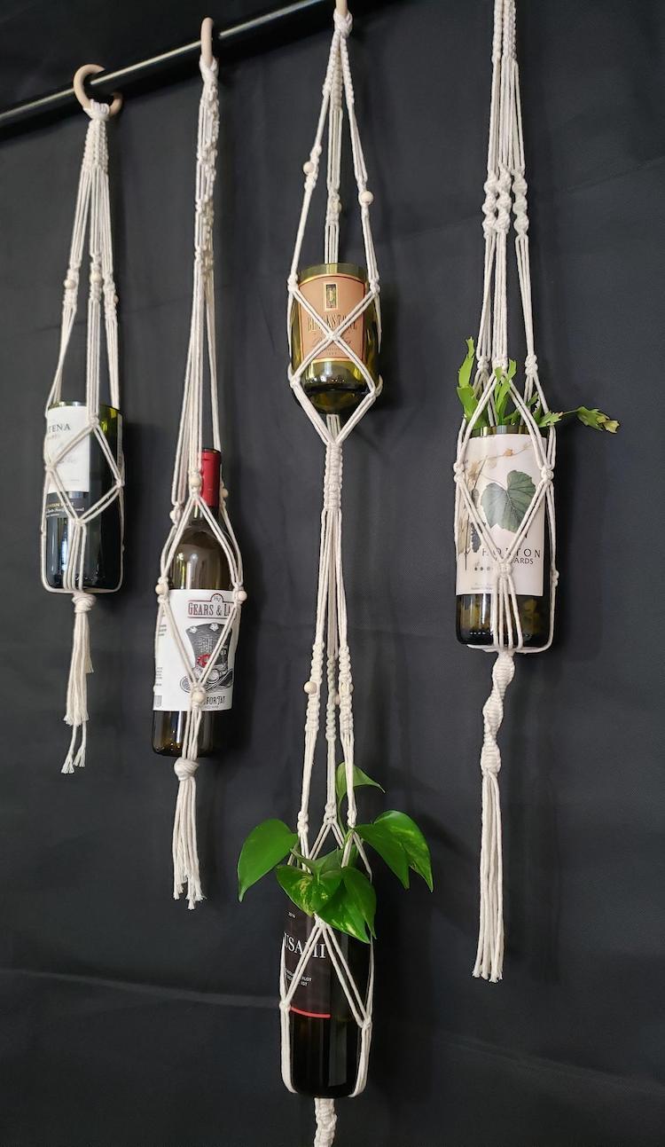 Macrame Wine Bottle Hanger