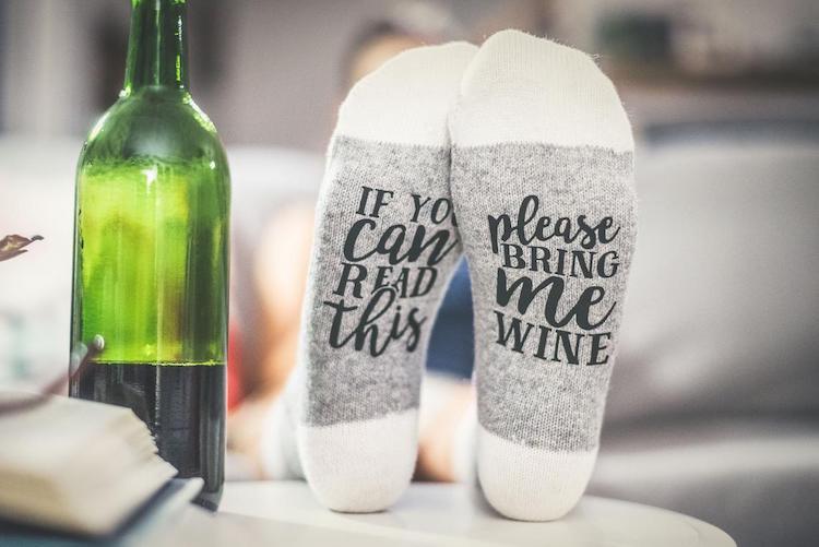 Funny Wine Socks