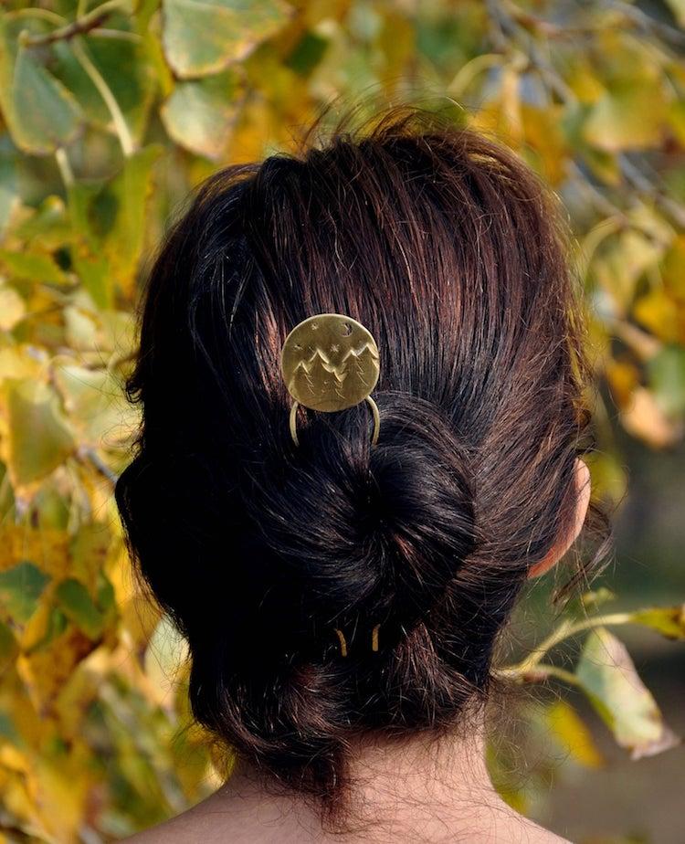 Broche para cabello de bosque