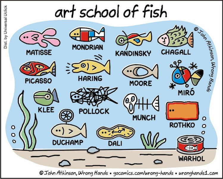 Artist Cartoons by John Atkinson