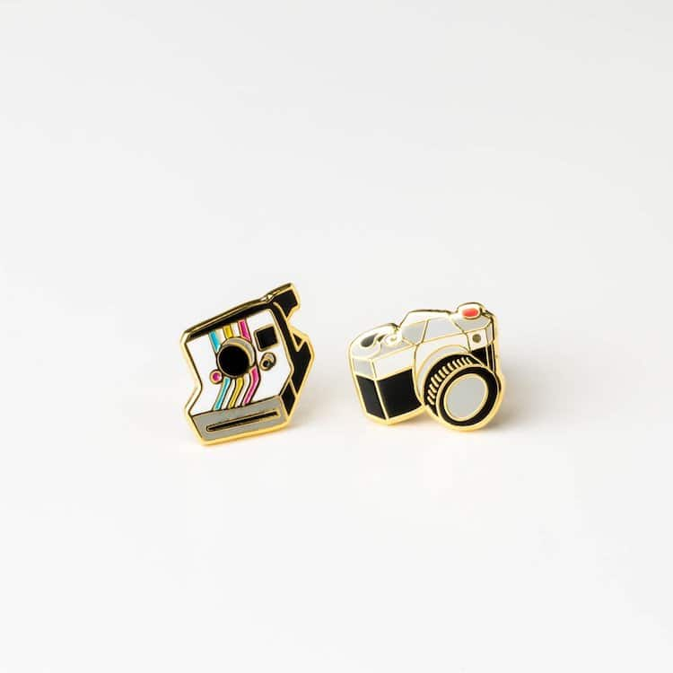 Mismatched Camera Earrings