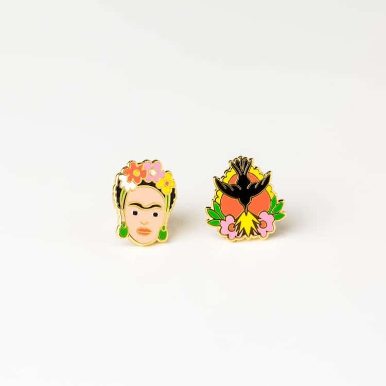 Frida Kahlo Mismatched Earrings