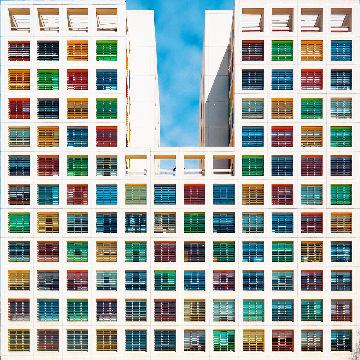 Rainbow Colored Building in Turkey