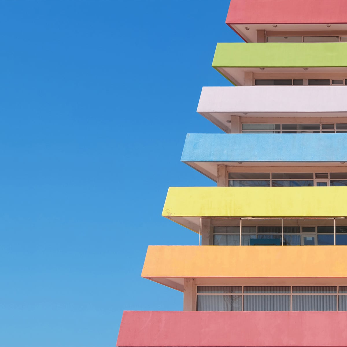 Detail of Multi Colored Building in Turkey