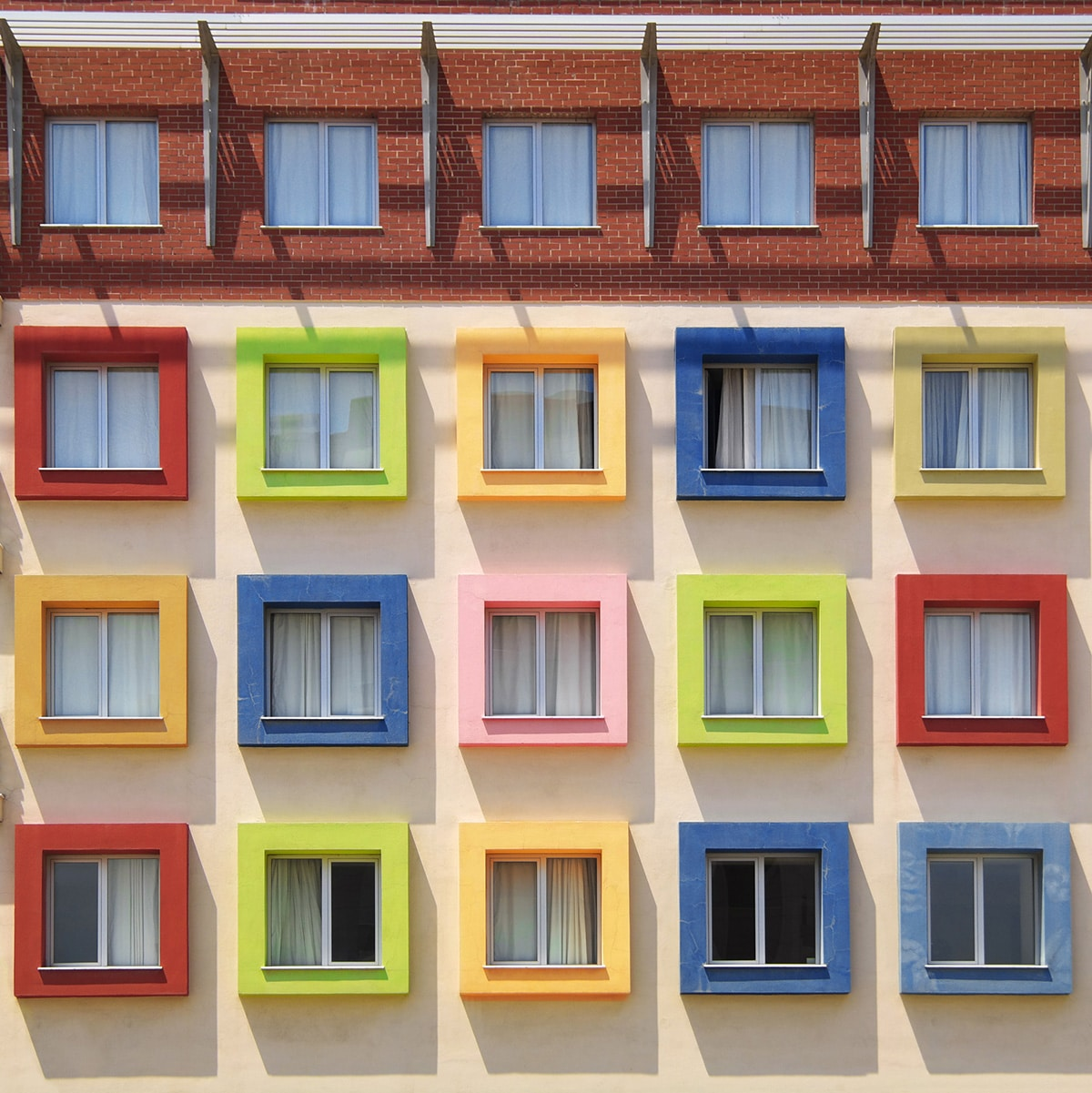 Building with Colorful Windows