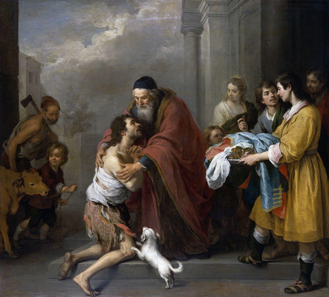 El regreso del hijo pródigo de Bartolomé Esteban Murillo