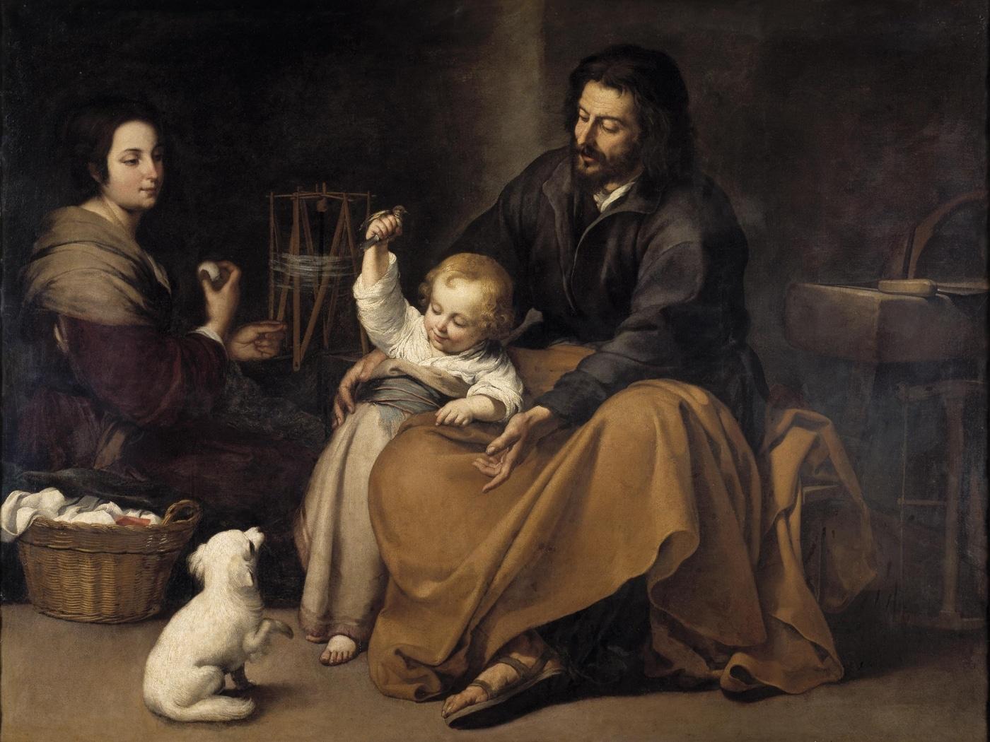 Sagrada Familia del pajarito de Bartolomé Esteban Murillo