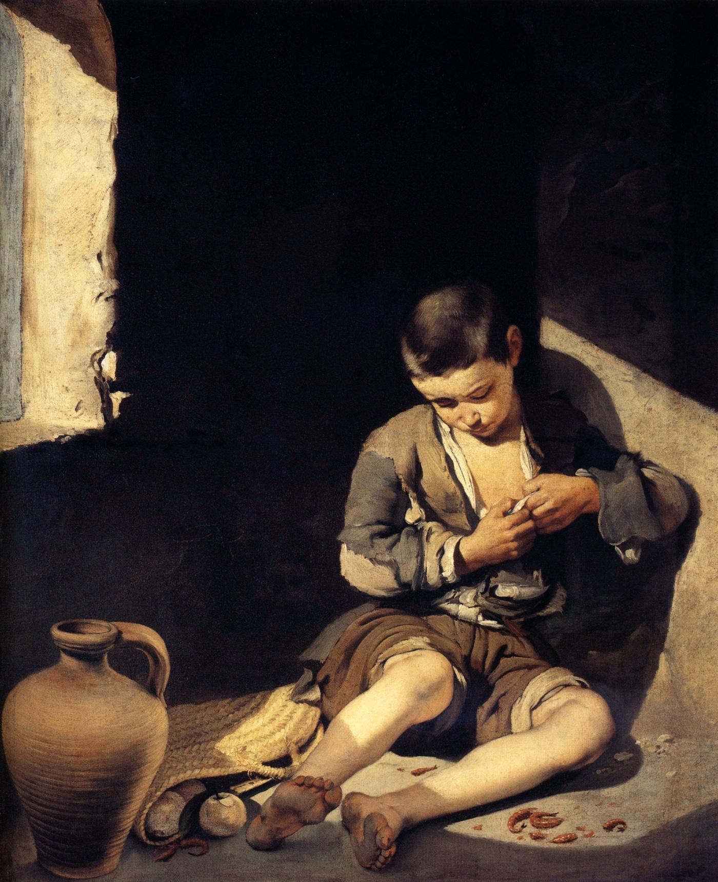 Joven méndigo de Bartolomé Esteban Murillo