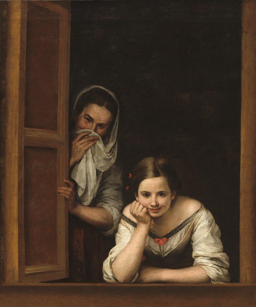 Mujeres en la ventana de Bartolomé Esteban Murillo barroco español