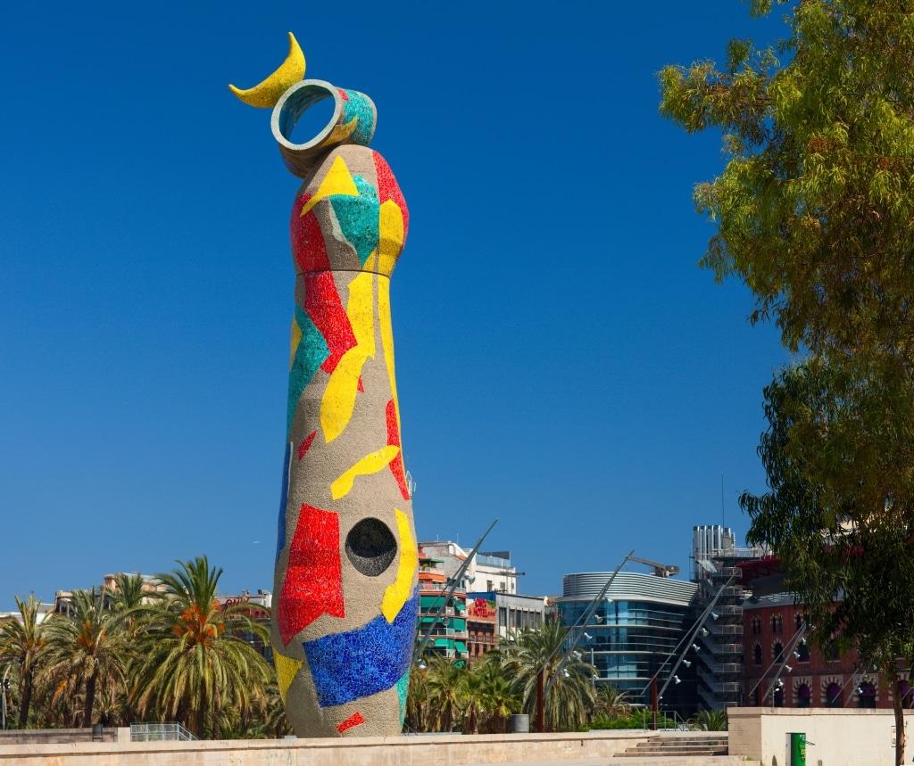 Escultura de Joan Miró en Barcelona