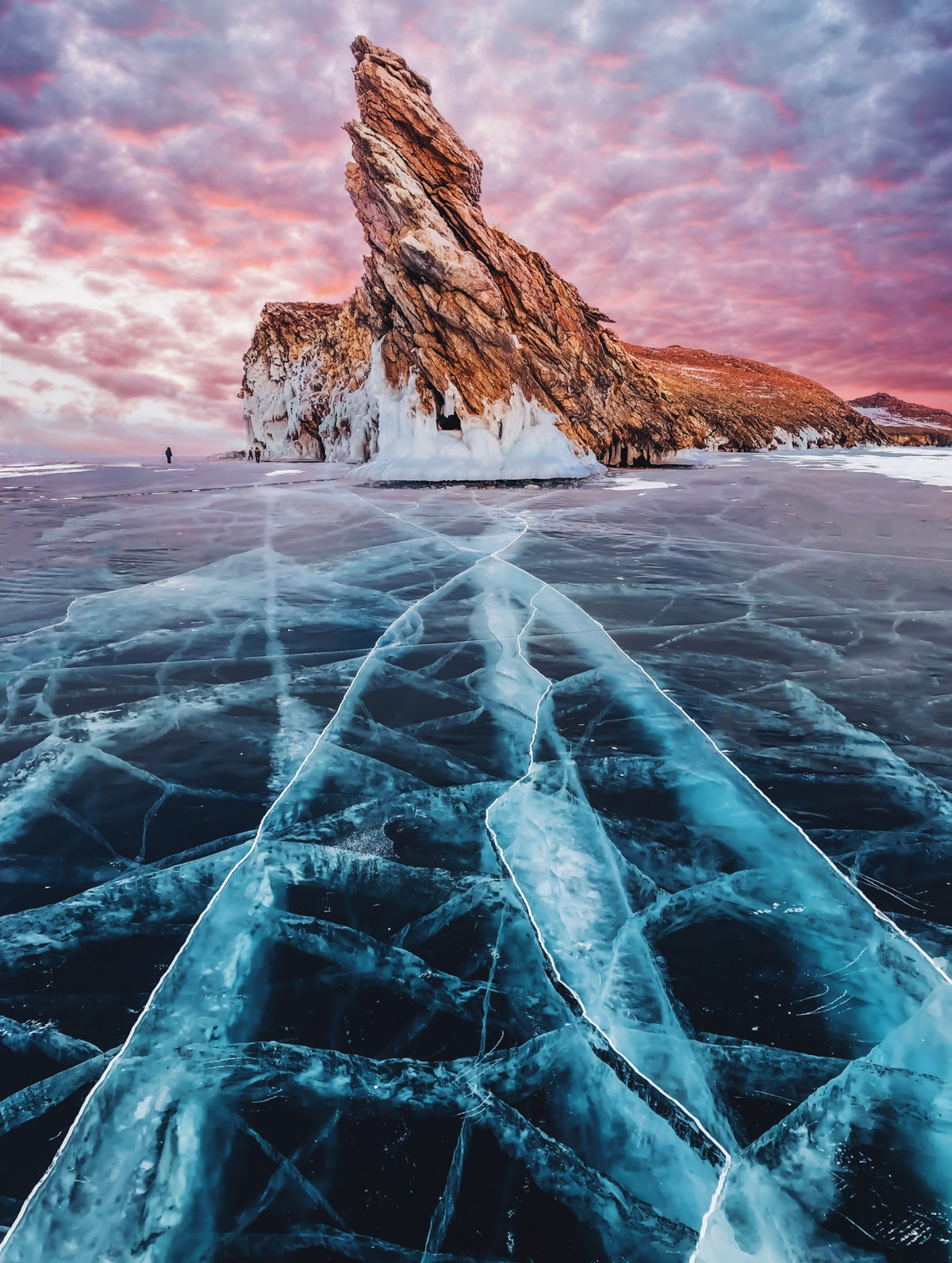 Lake Baikal Frozen by Kristina Makeeva