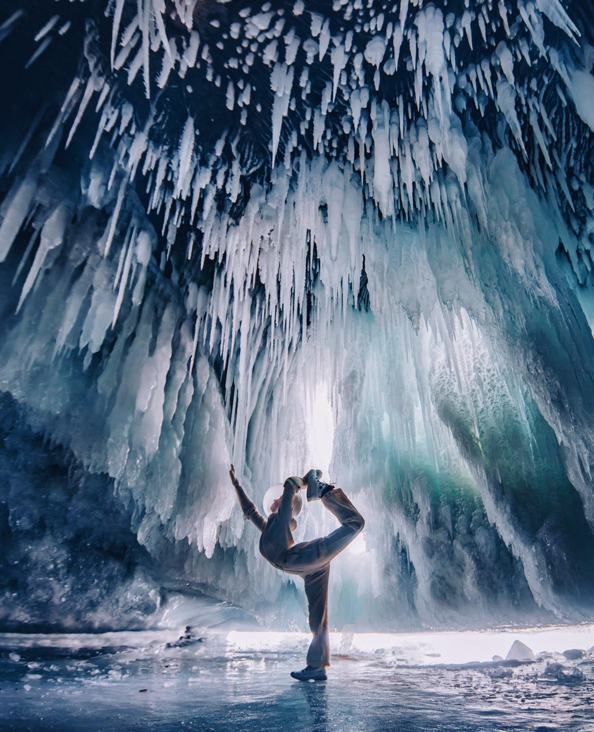 Kristina Makeeva - Ice and Fashion at Lake Baikal