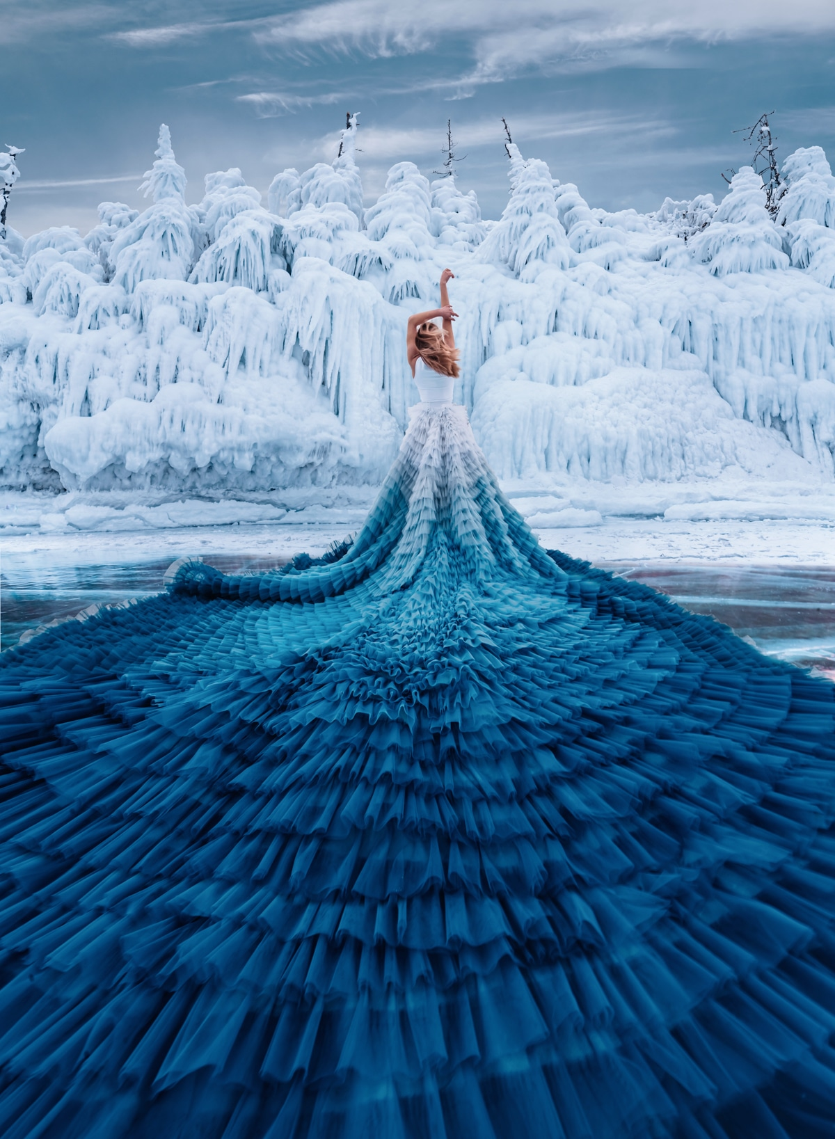 Lake Baikal Fashion Photography by Kristina Makeeva