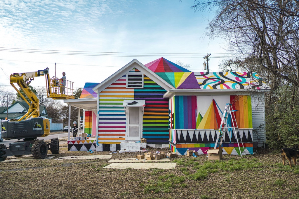 Colorful Art Installation