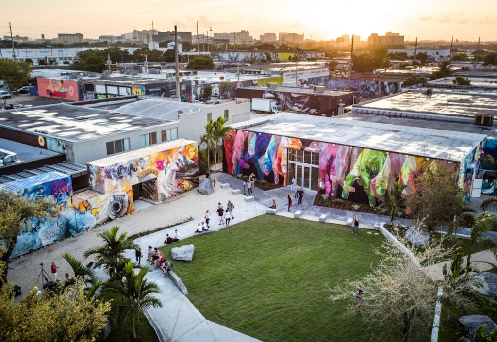 Aerial View of Wynwood Walls Garden