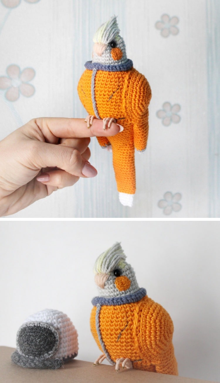 Crocheted 3D Bird Sculpture