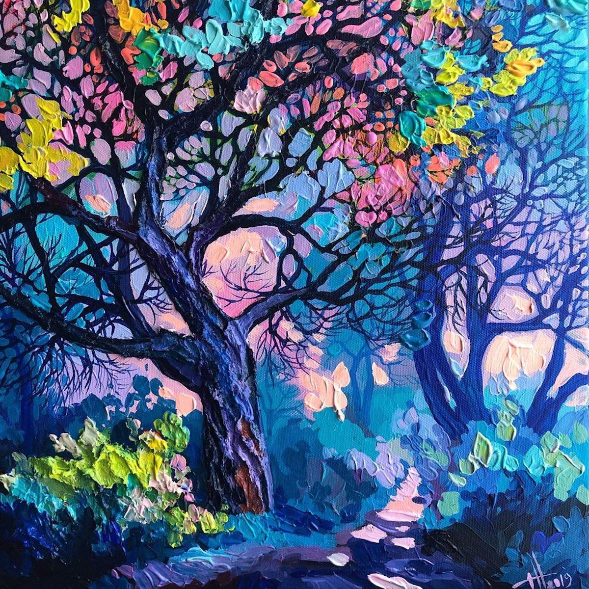Anastasia Trusova pinturas de paisajes