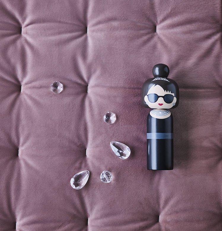 Audrey Hepburn Kokeshi Doll