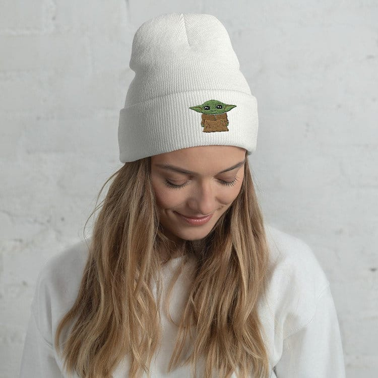Baby Yoda Embroidered Beanie