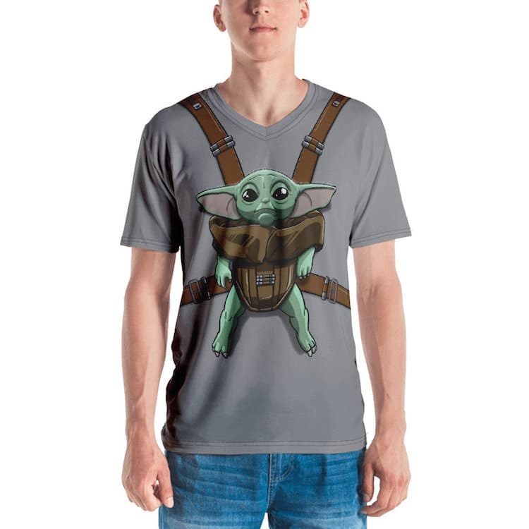 Baby Yoda in a Baby Carrier T-Shirt