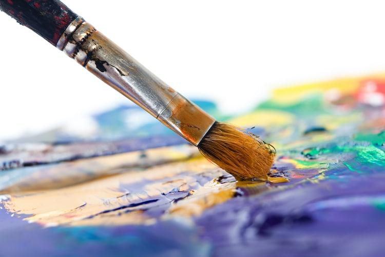 Paintbrush on Palette