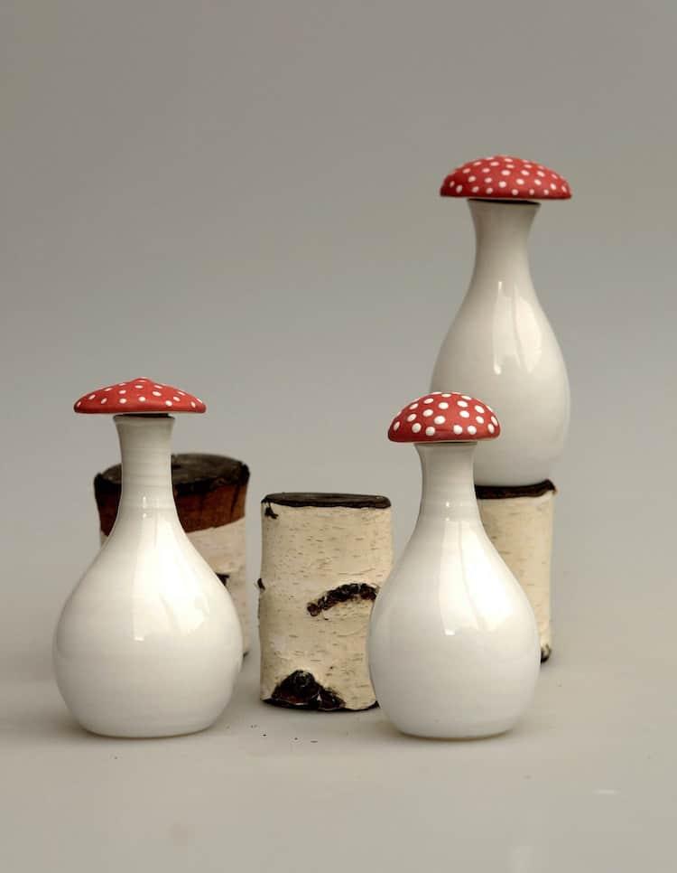 Hongo de cerámica