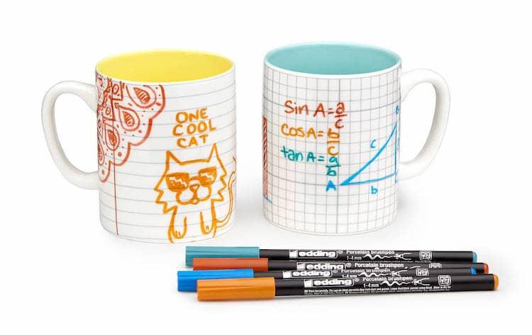 Paper Doodle Mugs
