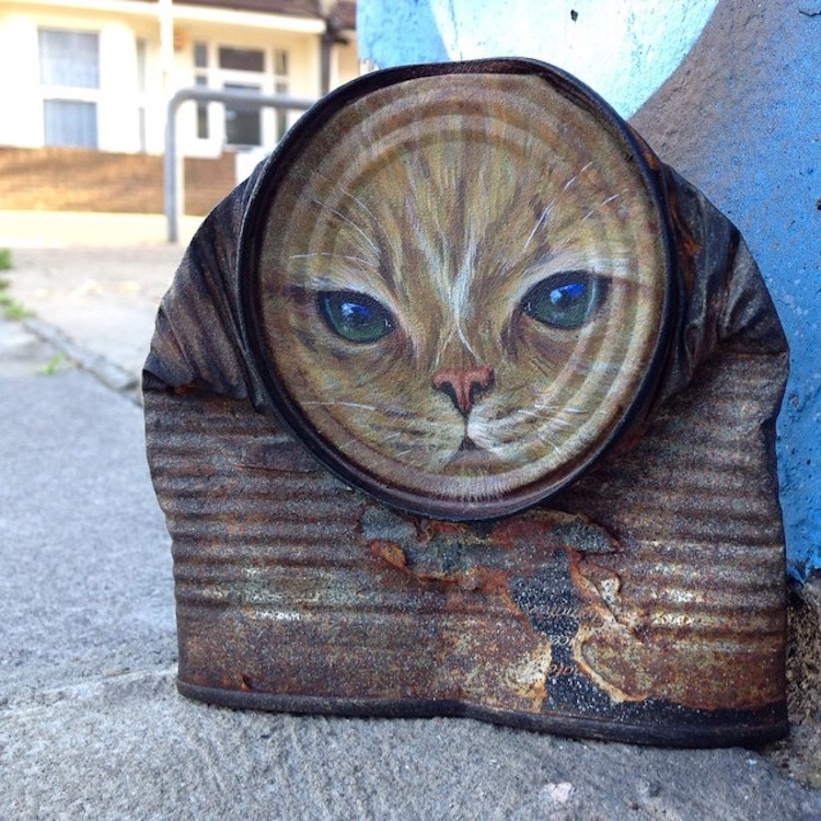 Latas viejas transformadas en arte por My Dog Sighs