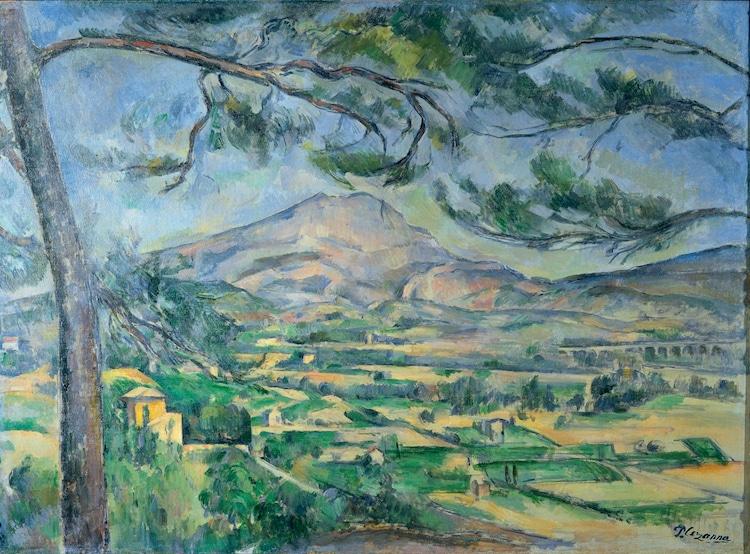 Cezanne Painting Mont Sainte-Victoire