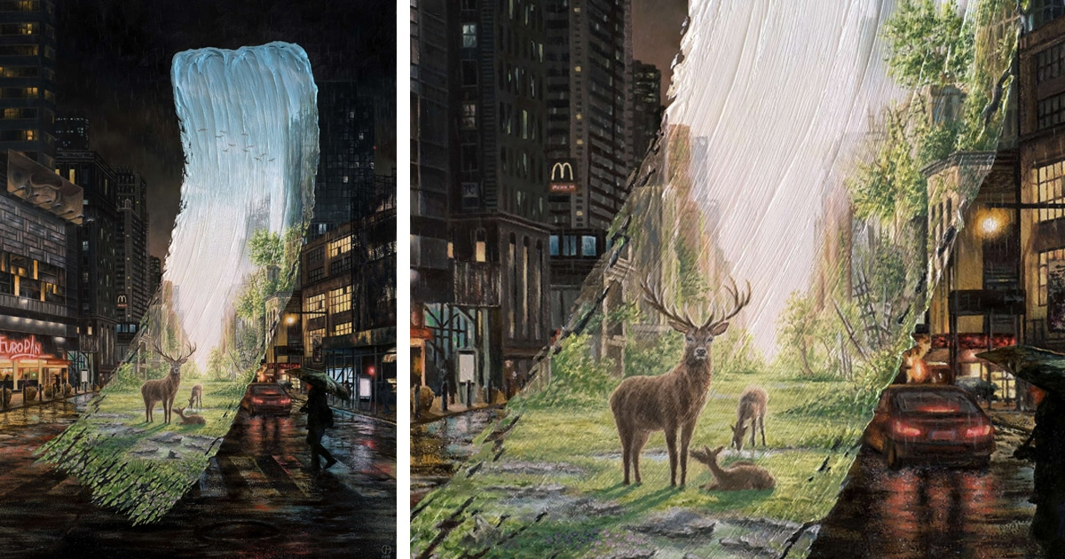 Painted Landscape Surrealism Imagines A Greener Future For