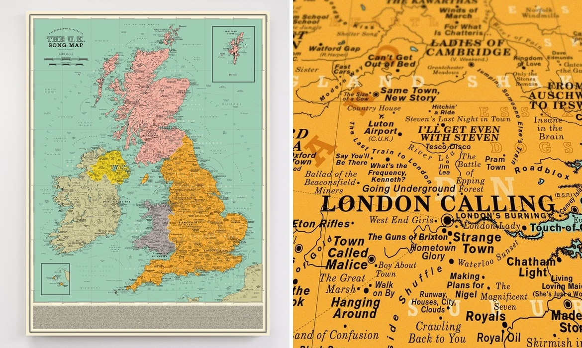 UK Song Map by Dorothy