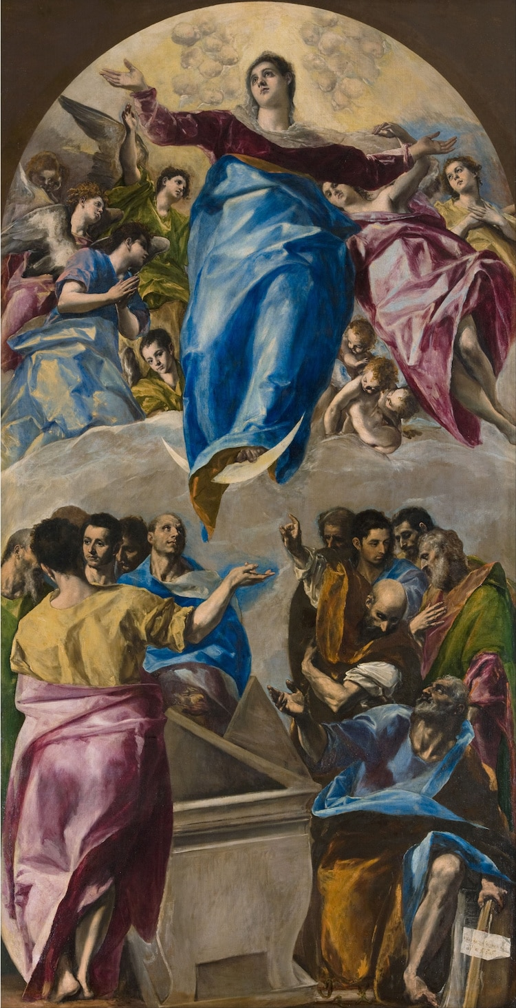 El Greco Painting the Assumption of the Virgin
