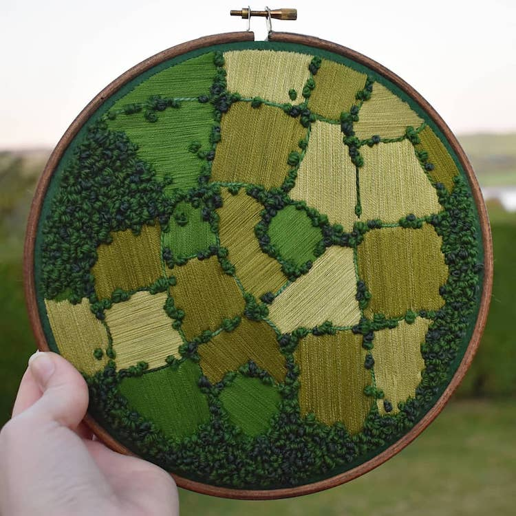 Embroidery Thread Paintings by Victoria Rose Richards