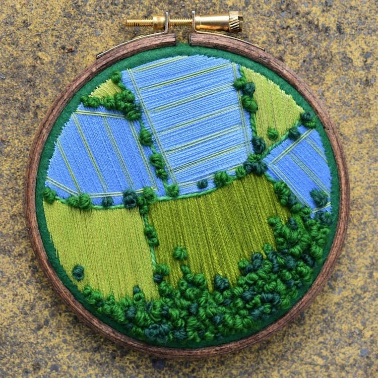 Embroidered Thread Painting