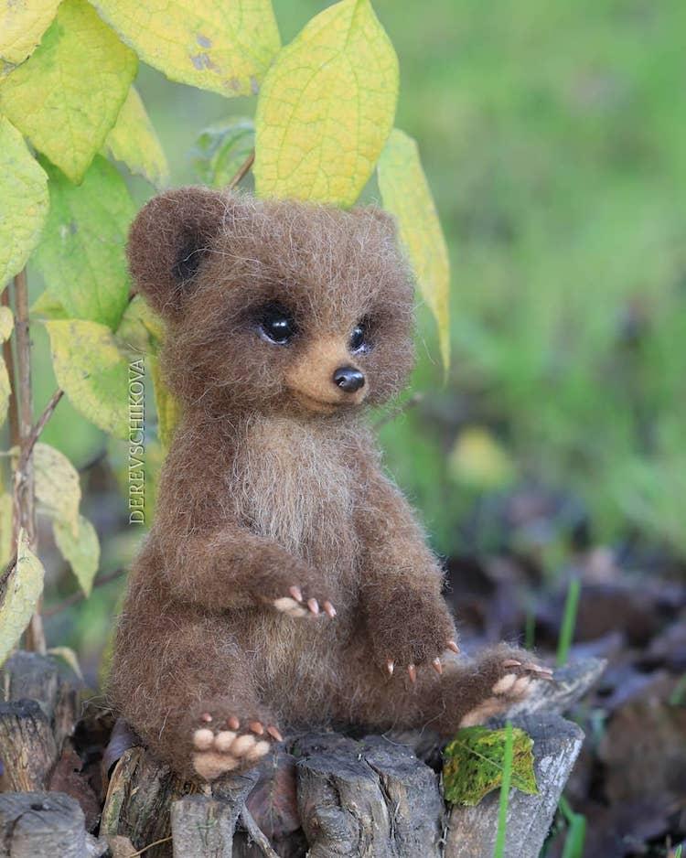 Felted Animals by Yulia Derevschikova