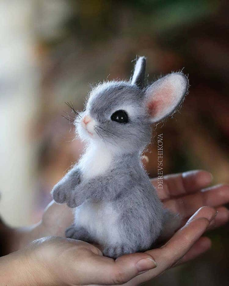 Felted Animals by Yulia Derevschikova