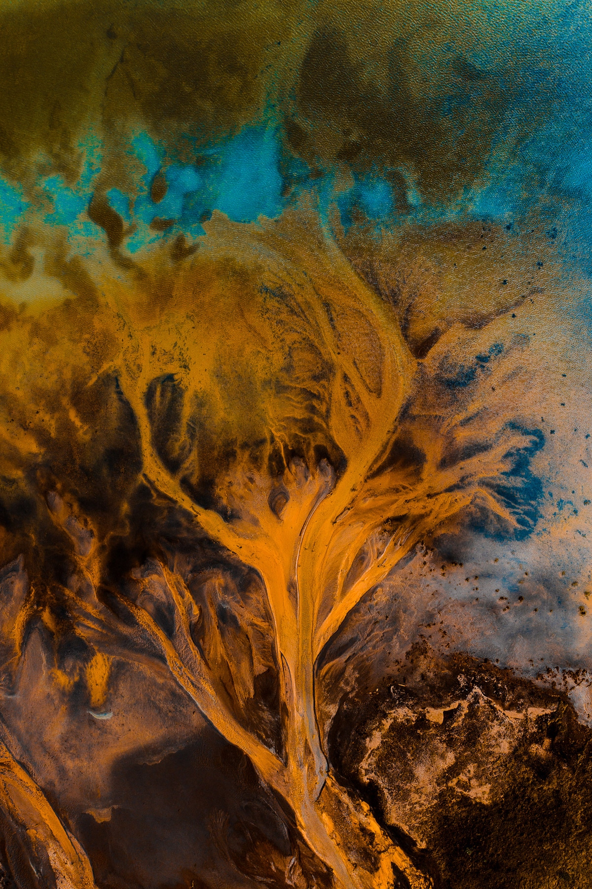 Abstract Photo of Iceland's Rivers