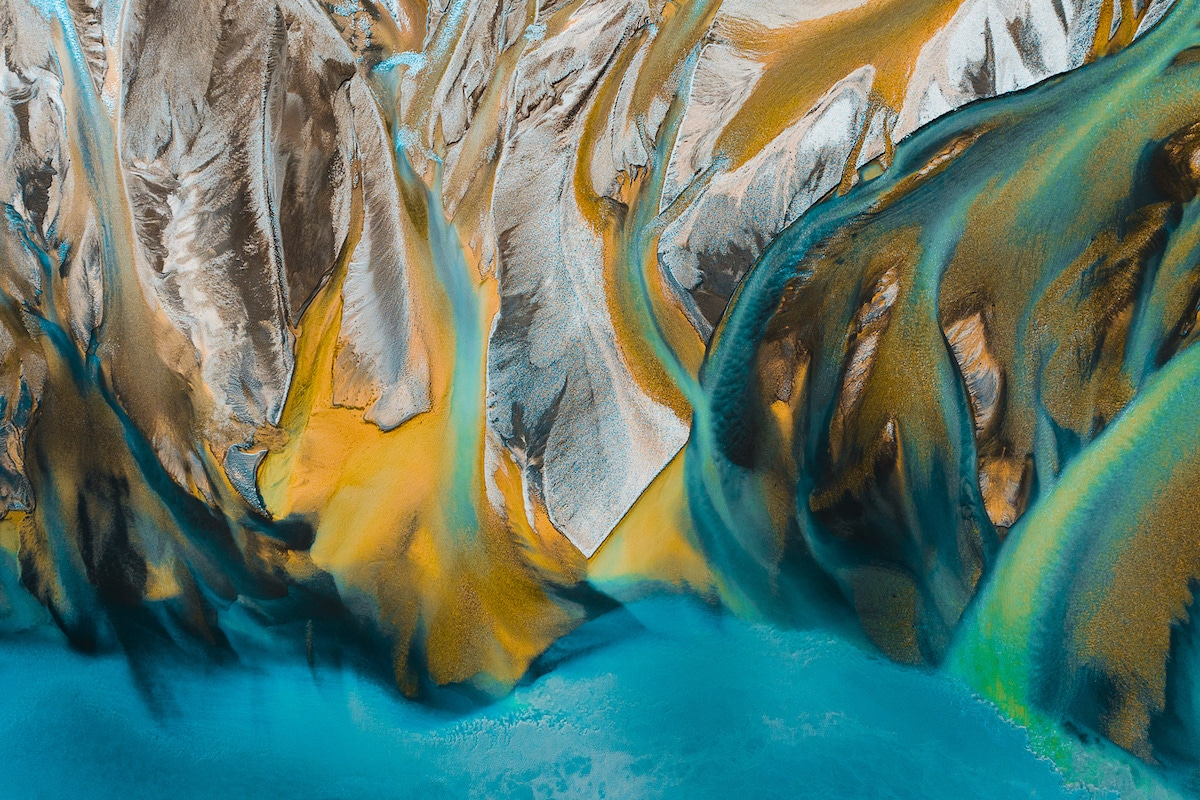 Iceland Rivers from Above