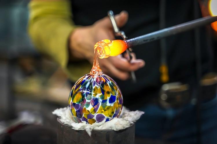 La historia del vidrio soplado