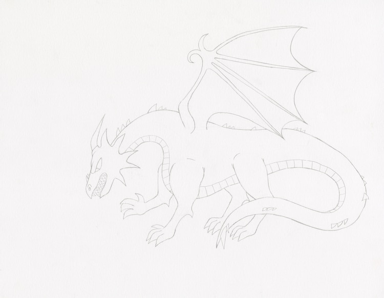 How to Draw a Dragon Step 6