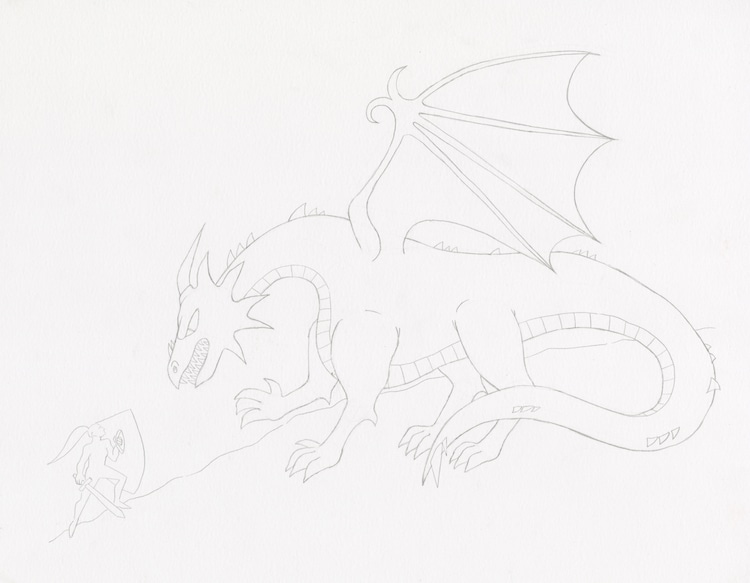 How to Draw a Dragon Step 7